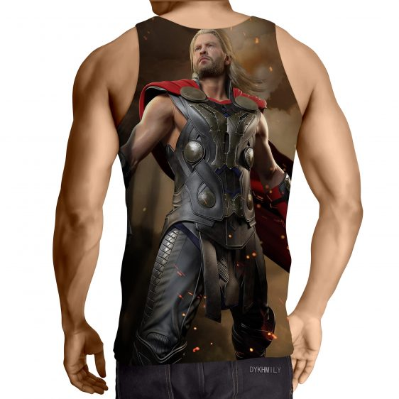 Thor Real Big Standing Nice On Fight Super Cool Tank Top