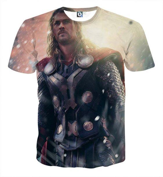 Thor Real Super Cool Serious Portrait Impressive T-shirt