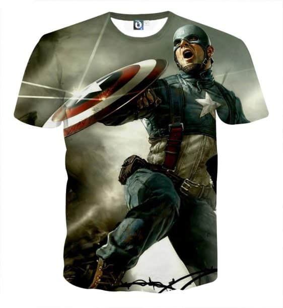 Triggered Captain America Civil War Fighting Cool T-shirt