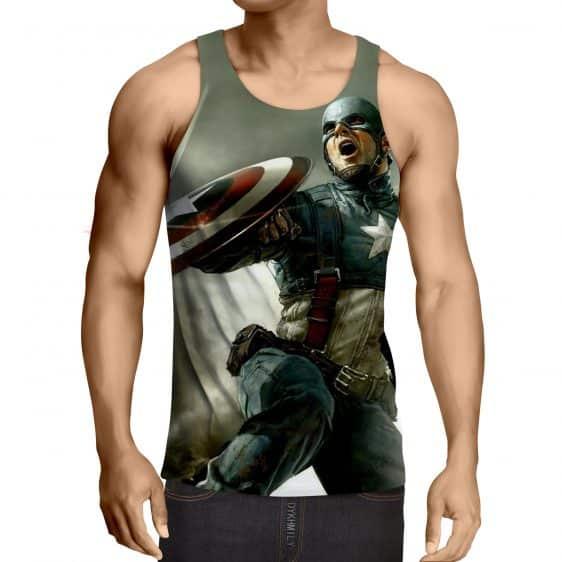 Triggered Captain America Civil War Fighting Cool Tank Top