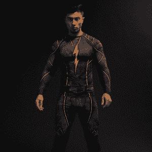 DC Flash Inspired 3D Printed Compression Raglan Long Sleeves T-shirt - Superheroes Gears