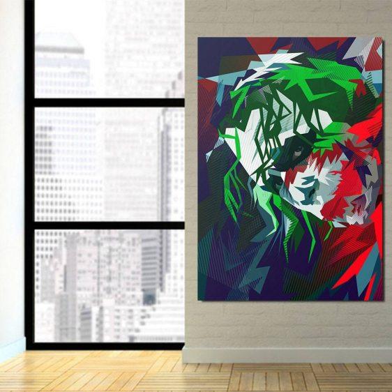 Vibrant Dope Joker Design 1pcs Vertical Canvas Print