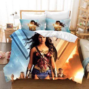 Wonder Woman Movie Amazonian And Steve Trevor Bedding Set