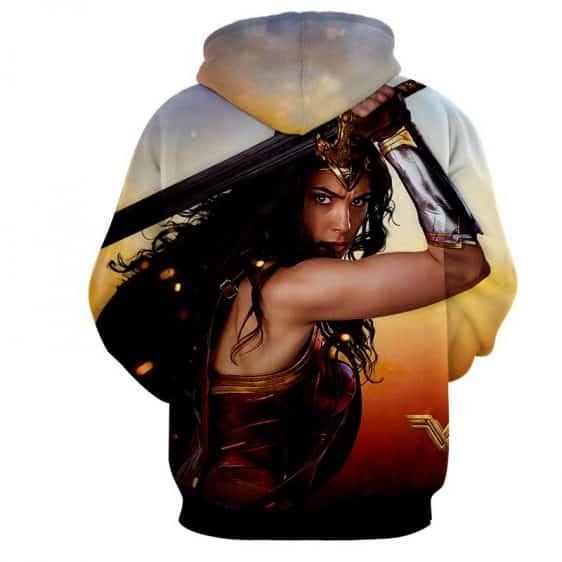 Wonder Woman Beautiful Gal Gadot Realistic 3D Print Hoodie