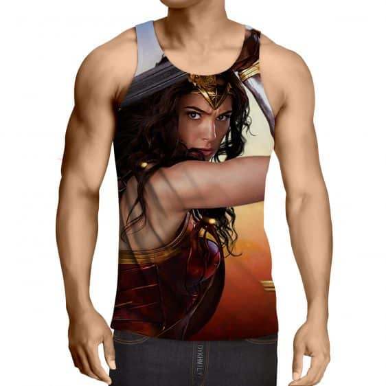 Wonder Woman Beautiful Gal Gadot Realistic 3D Print Tank Top