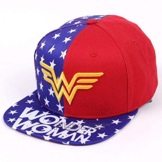Wonder Woman Golden Symbol American Flag Cool Snapback Hat