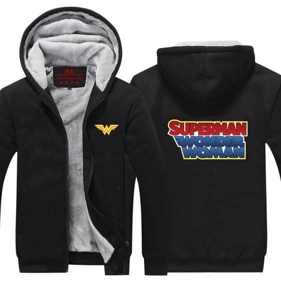 Wonder Woman Superman Wonder Letters Logo Hooded Jacket