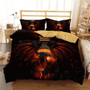 World of Warcraft Cataclysm Deathwing Red Black Bedding Set