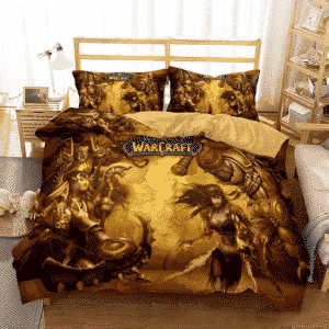 World of Warcraft Wrath of the Lich King Yellow Bedding Set