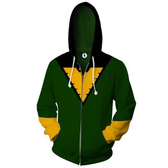 X-Men Dark Pheonix Superhero Green Uniform Zip Up Hoodie