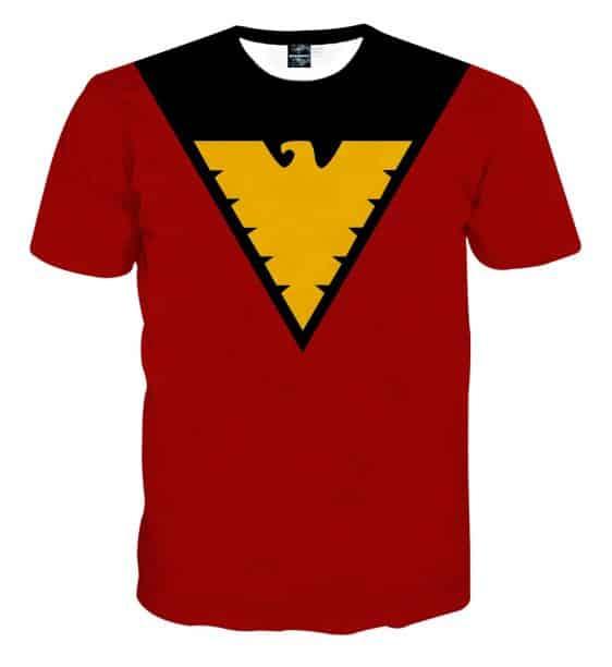 X-Men Dark Phoenix Superhero Red Suit Uniform Cosplay T-Shirt
