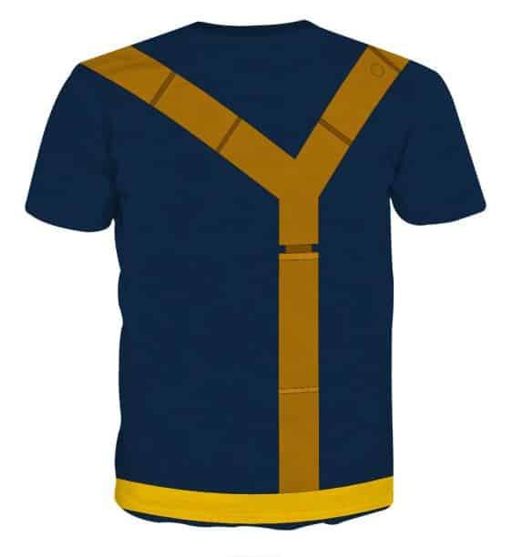 X-Men Scott Summers Cyclops Dope Blue Suit Cosplay T-Shirt