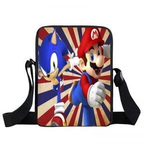 Super Mario Sonic The Hedgehog Retro Style Cross Body Bag