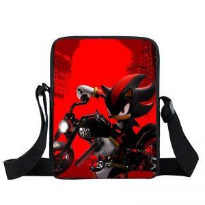 Sonic Armed Shadow The Hedgehog In Motorcycle Cross Body Bag