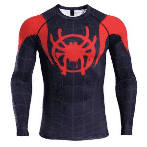 Spider-Man Spider-Verse Long Sleeve Cosplay Fitness T-Shirt