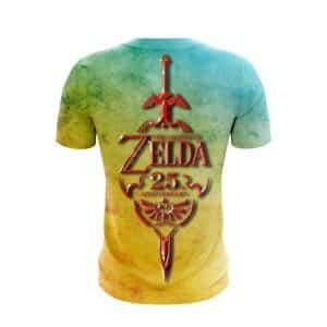 The Legend Of Zelda Vibrant Red Sword Stylish Design T-Shirt