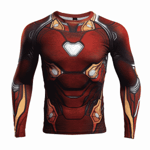 Marvel Iron Man Cosplay Long Sleeves Compression 3D T-Shirt