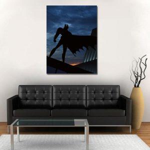 Batman Superhero Silhouette On the Sunset 1pc Canvas Wall Art