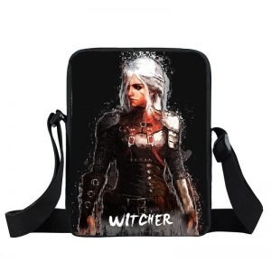 The Witcher Ciri Walking In The Rain Art Design Cross Body Bag