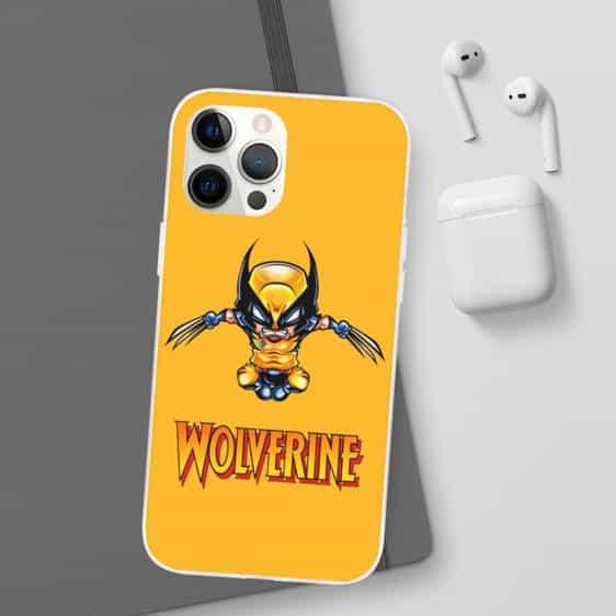 Adorable Chibi Wolverine Art Yellow iPhone 12 Case
