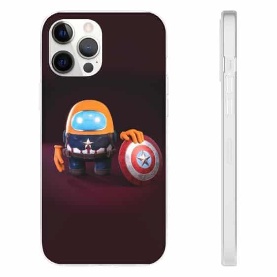 Among Us Captain America Orange Crewmate iPhone 12 Case