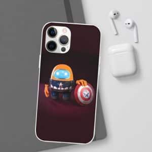 Among Us Captain America Orange Crewmate iPhone 12 Casec