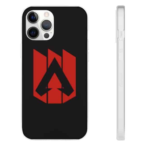 Apex Legends Red Logo Black iPhone 12 Fitted Cover