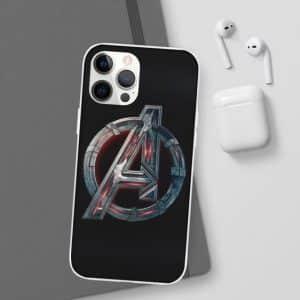 Avengers Age of Ultron Movie Logo Black iPhone 12 Case