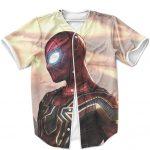 Avengers Infinity War Spider-Man Iron Armor Epic MLB Shirt