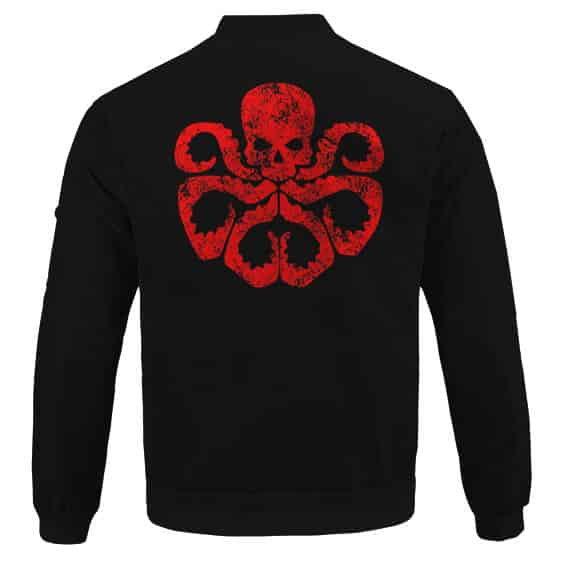 Stunning Hail Hydra Logo Minimalistic Black Bomber Jacket