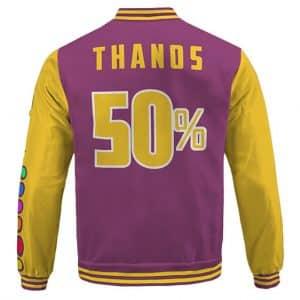 The Almighty Thanos With Infinity Gauntlet Cartoon Varsity Jacket