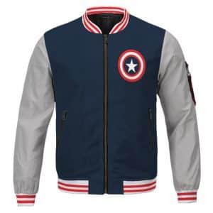 Captain America Steve Rogers Classic Uniform Varsity Jacket