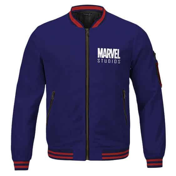 Vintage Marvel Studios 93 Awesome Navy Blue Letterman Jacket