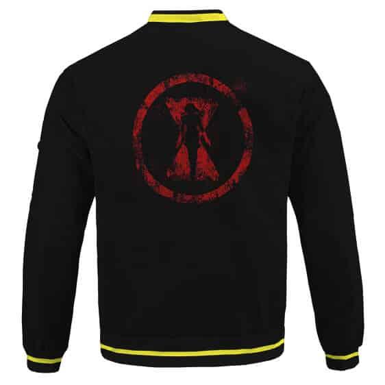 Fearsome Black Widow Natasha Romanoff Logo Bomber Jacket