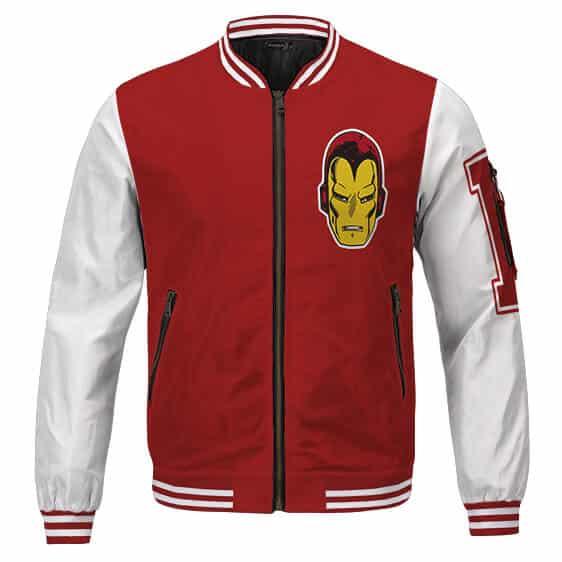 Dope Iron Man Tony Stark Classic Uniform Design Varsity Jacket