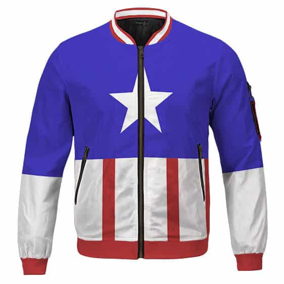 The First Avenger Captain America Vintage Outfit Bomber Jacket