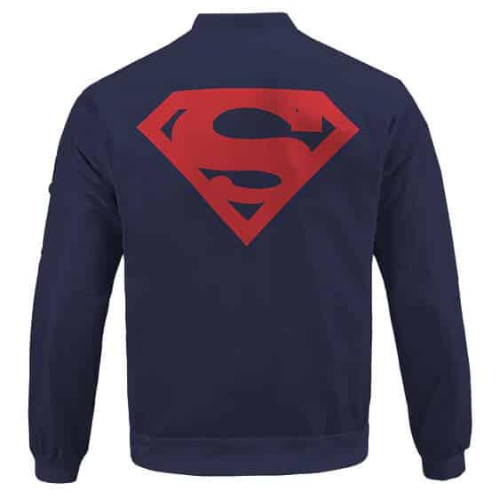 Man Of Steel Superman Logo Minimalistic Design Bomber Jacket