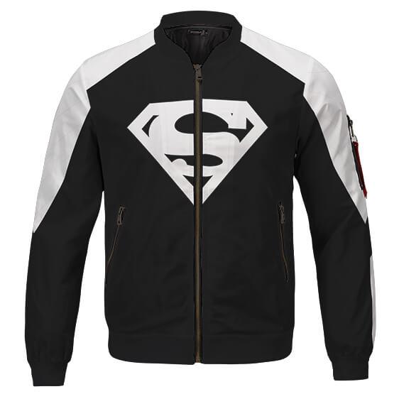 Superman Solar Regeneration Suit Design Black Bomber Jacket