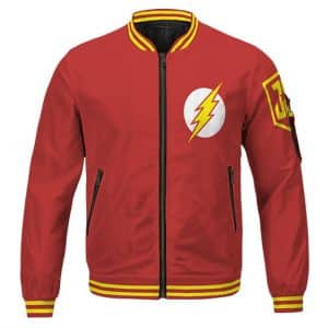 Justice League The Flash Barry Allen Logo Awesome Varsity Jacket