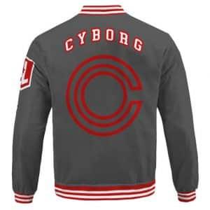 Amazing Cyborg Victor Stone Logo Minimalistic Letterman Jacket