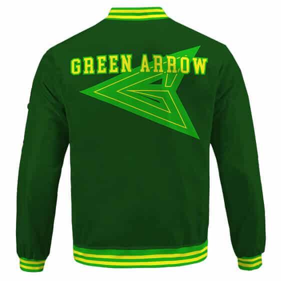 Vigilante Green Arrow Oliver Queen Logo Dope Green Varsity Jacket