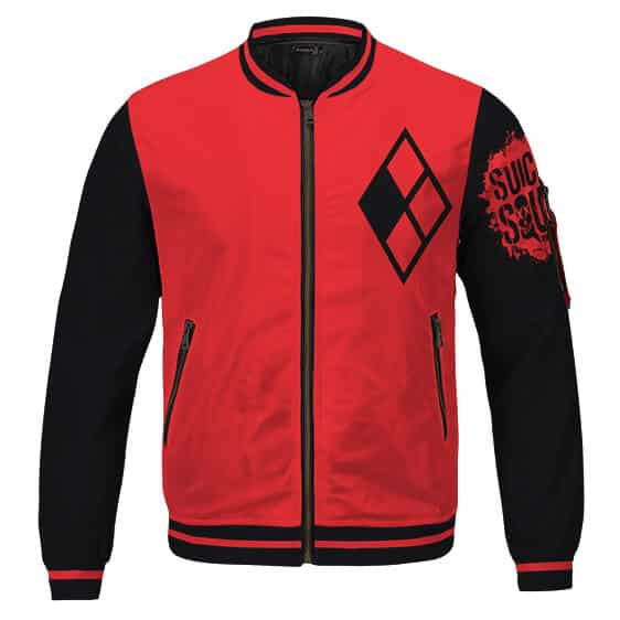 Suicide Squad Harley Quinn Logo Classic Red Varsity Jacket
