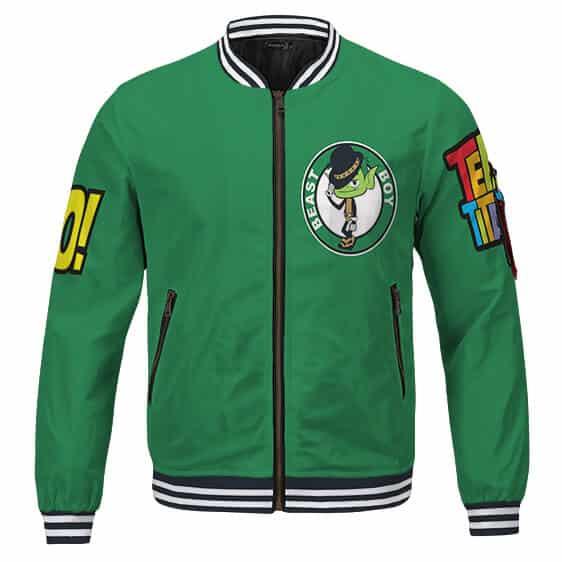 Teen Titans Go! Beast Boy Adorable Green Cool Varsity Jacket