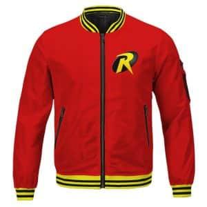 Teen Titans Go! Robin Logo Classic Colors Theme Letterman Jacket