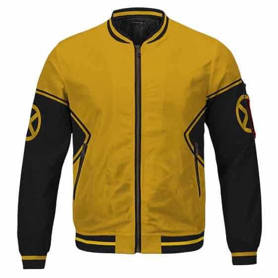 Amazing X-men Classic Black And Yellow Theme Varsity Jacket