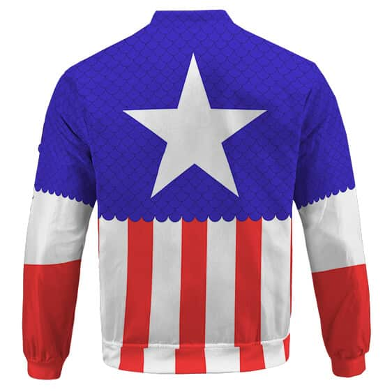 Captain America Steve Rogers Classic Suit Cosplay Bomber Jacket