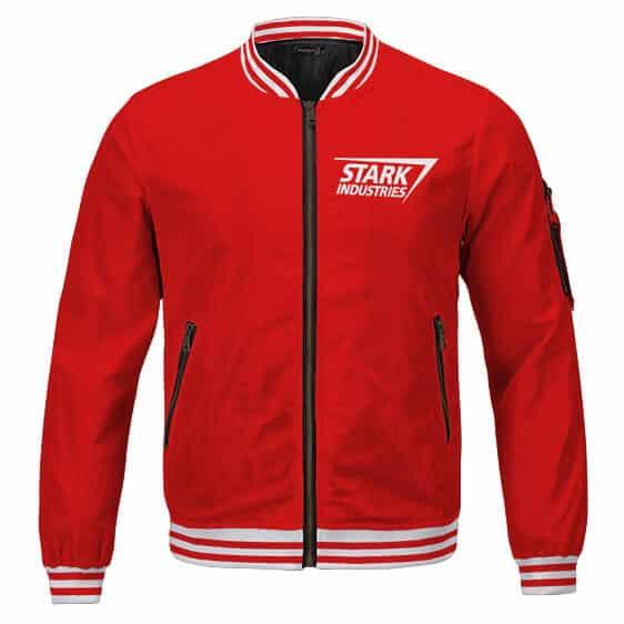 Marvel's Iron Man Stark Industries Casual Red Letterman Jacket