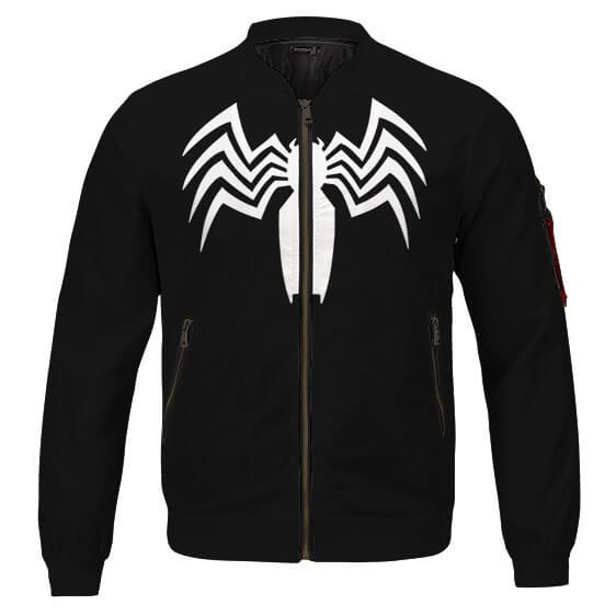 The Amazing Spider-Man Venom Logo Cool Black Varsity Jacket