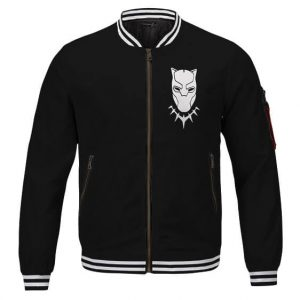 Black Panther King T'Challa Icon And Logo Black Varsity Jacket