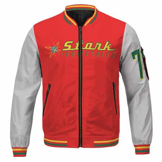 Iron Man Stark Industries Colorful Design Dope Varsity Jacket
